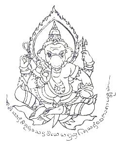 Sak Yant Ganesha